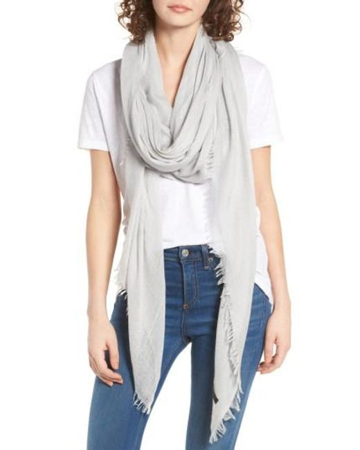 Rag & Bone | Gray 'buckley' Scarf | Lyst