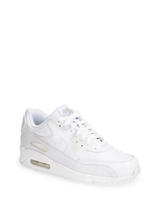 Nike   White 'air Max 90' Leather Sneaker for Men   Lyst