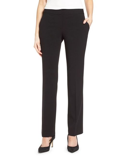 Vince Camuto | Black Straight Leg Pants | Lyst