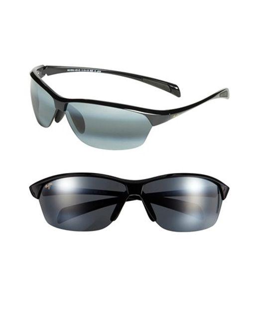 Maui Jim | Black 'hot Sands - Polarizedplus2' 71mm Sunglasses for Men | Lyst