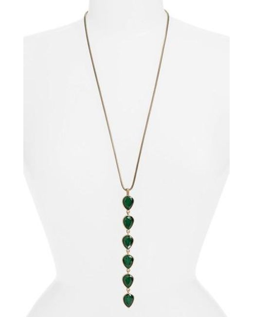 Loren Hope | Green Sydney Y-necklace | Lyst
