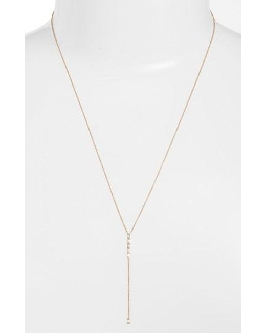Dana Rebecca | Metallic Sadie Diamond Y-necklace | Lyst