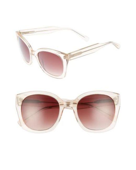 Derek Lam | Pink Sadie 54mm Sunglasses - Nude Crystal | Lyst