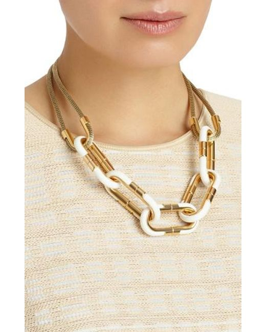 Lafayette 148 New York Sculpted Leaf Statement Necklace qhLmSNSGpx