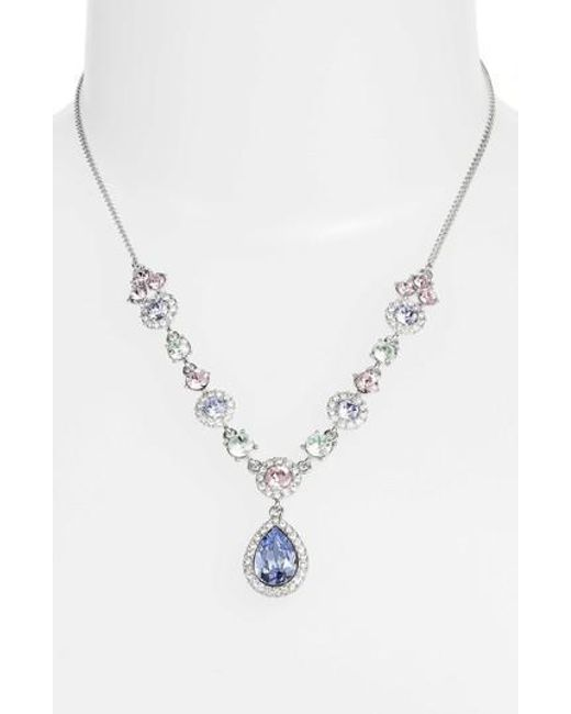 Givenchy - Metallic Pastel Crystal Pendant Necklace - Lyst
