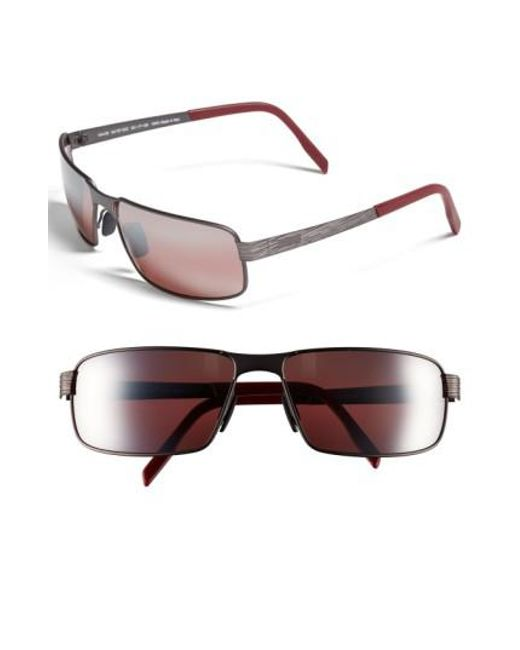 Maui Jim | Purple 'castaway - Polarizedplus2' 63mm Polarized Sunglasses - Dark Gunmetal for Men | Lyst