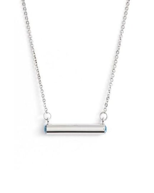 Stella Valle | Metallic Stella Vale March Crystal Bar Pendant Necklace | Lyst