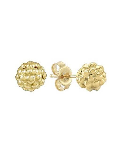Lagos | Metallic 'caviar Icon' Stud Earrings | Lyst