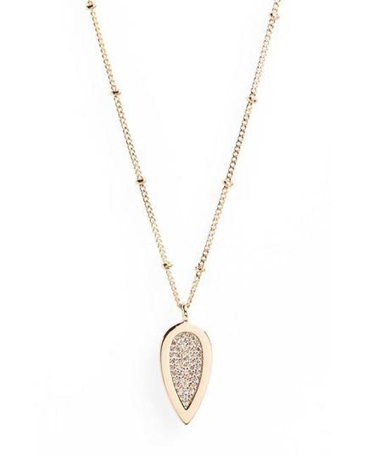 Melanie Auld | Metallic Teardrop Pendant Necklace | Lyst
