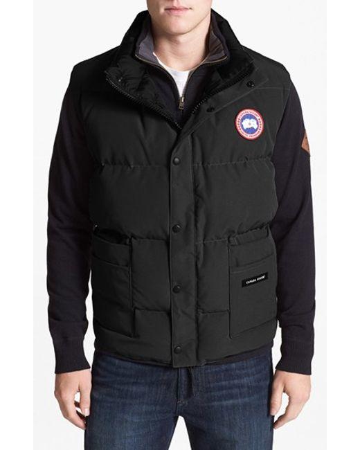 Canada Goose | Black 'freestyle' Water Resistant Regular Fit Down Vest for Men | Lyst