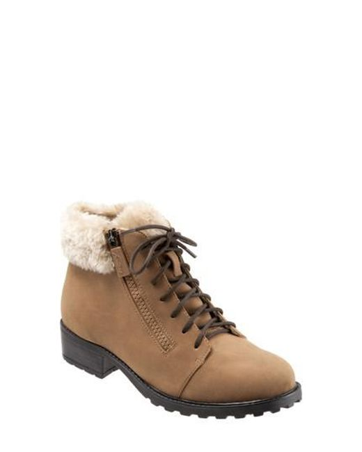 Trotters - Brown Below Zero Waterproof Winter Bootie - Lyst