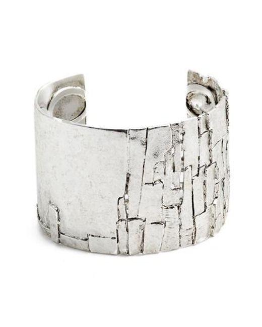 Karine Sultan | Metallic Wide Cuff | Lyst