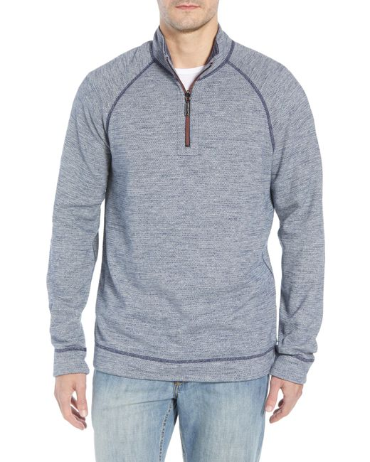Tommy Bahama - Blue On The Doubles Mock Neck Quarter Zip Pullover for Men - Lyst