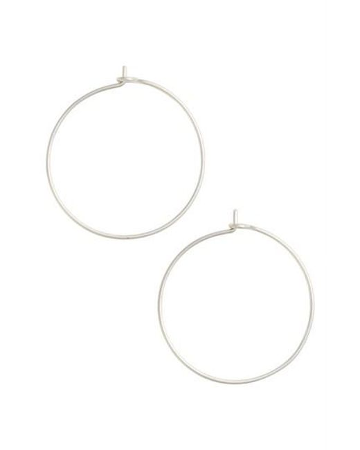 Nashelle | Metallic Medium Pure Hoop Earrings | Lyst