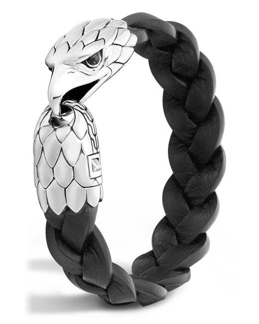 John Hardy - Multicolor Legends Eagle Silver & Leather Braided Bracelet for Men - Lyst
