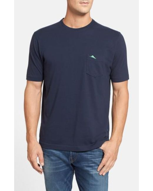 Tommy Bahama | Blue 'new Bali Sky' Original Fit Crewneck Pocket T-shirt for Men | Lyst