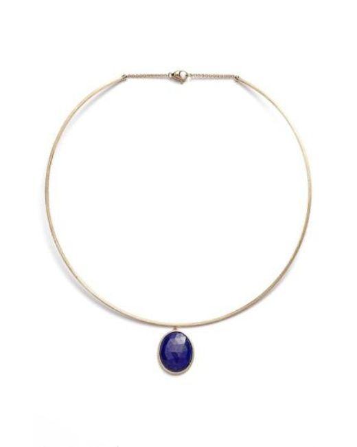 Marco Bicego | Black 'lunaria' Lapis Collar Necklace | Lyst