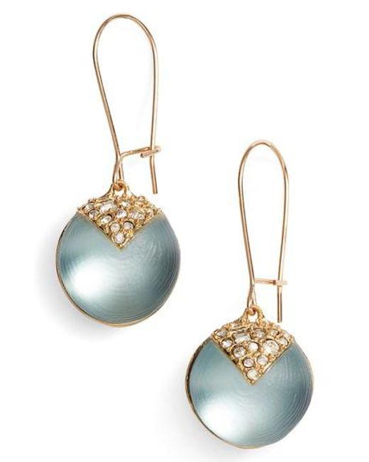 Alexis Bittar | Blue Alex Bittar Crystal Encrusted Lucite Sphere Drop Earrings | Lyst