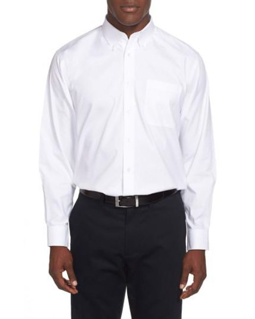 Nordstrom - White Smartcare™ Traditional Fit Pinpoint Dress Shirt for Men - Lyst