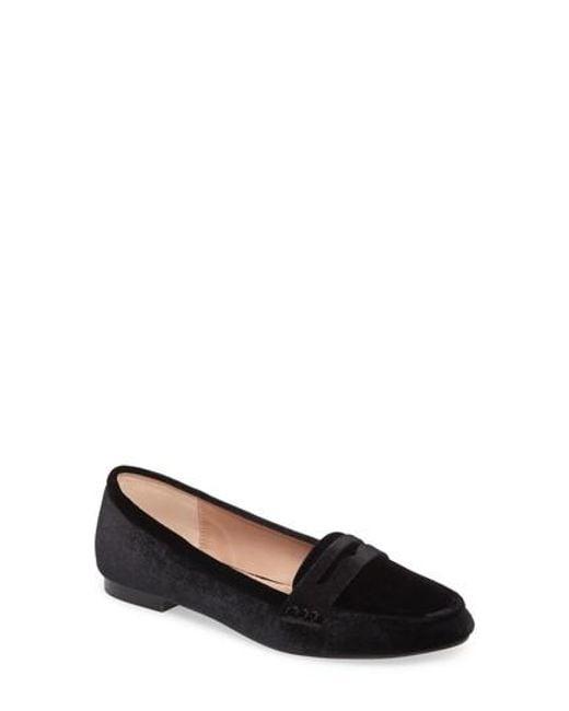 Callisto | Black Loafer Flat | Lyst