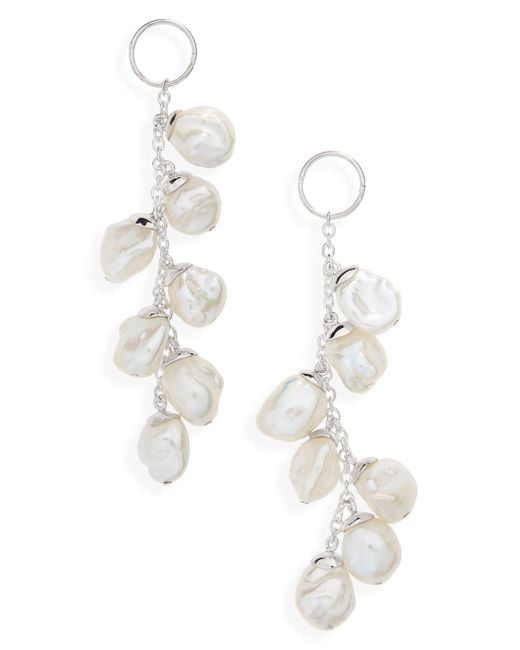 Meadowlark - Metallic Baroque Cultured Freshwater Pearl Drop Earrings - Lyst