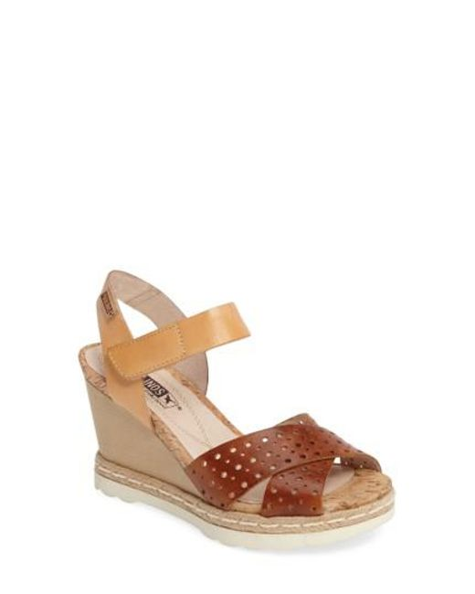 Pikolinos - Multicolor Bali Wedge Sandal - Lyst