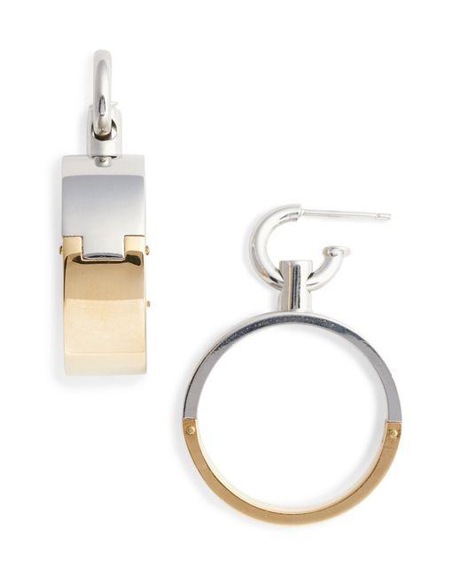 Alexander Wang - Metallic Interlocking Hoop Earrings - Lyst
