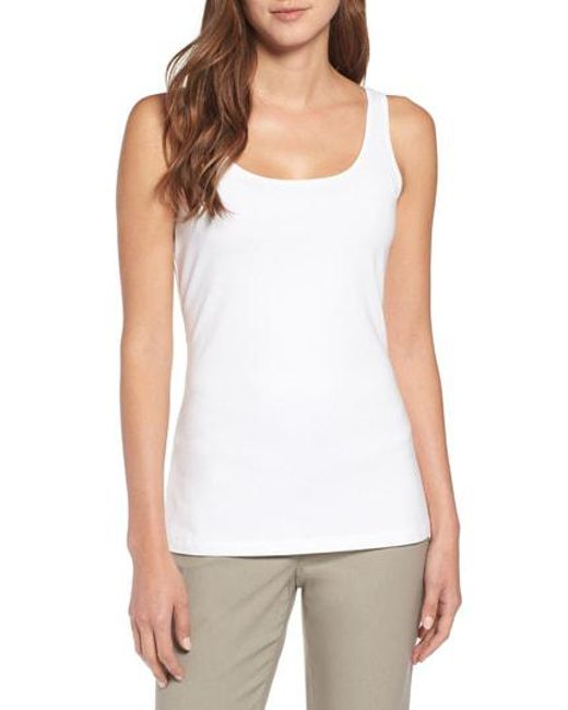 NIC+ZOE - White 'perfect' Scoop Neck Tank - Lyst