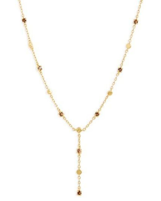 Madewell | Metallic Gem Line Lariat Necklace | Lyst