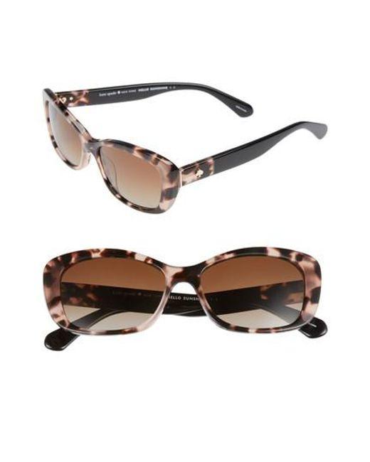 Kate Spade - Gray Claretta 53mm Polarized Sunglasses - Lyst