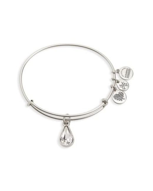 ALEX AND ANI - Metallic Birthstone Adjustable Wire Bangle - Lyst