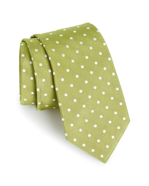 Gitman Brothers Vintage - Green Polka Dot Silk Tie for Men - Lyst