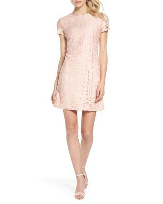 Julia Jordan - Pink Lace Sheath Dress - Lyst
