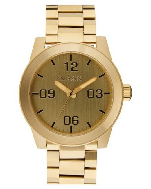 Nixon | Metallic 'the Corporal' Bracelet Watch for Men | Lyst