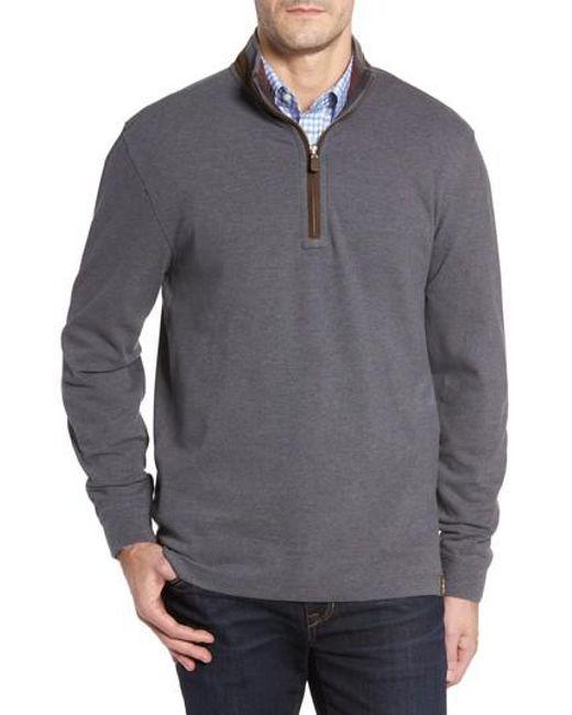 Thaddeus | Gray Clifton Quarter Zip Pullover for Men | Lyst
