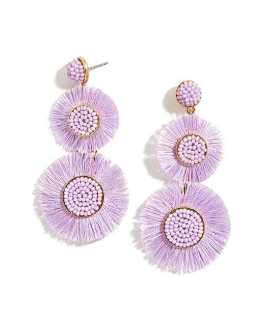 Baublebar Purple Mariette Fringe Earrings Lyst