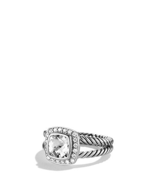 David Yurman - Multicolor 'albion' Ring With Semiprecious Stone & Diamonds - Lyst