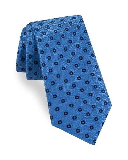 Ted Baker | Blue Sundial Medallion Silk Tie for Men | Lyst