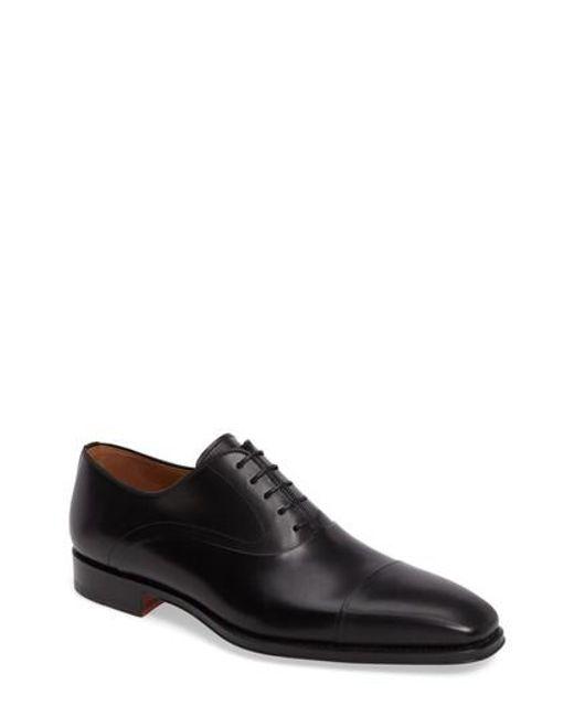 Magnanni Shoes   Black Saffron Cap Toe Oxford for Men   Lyst