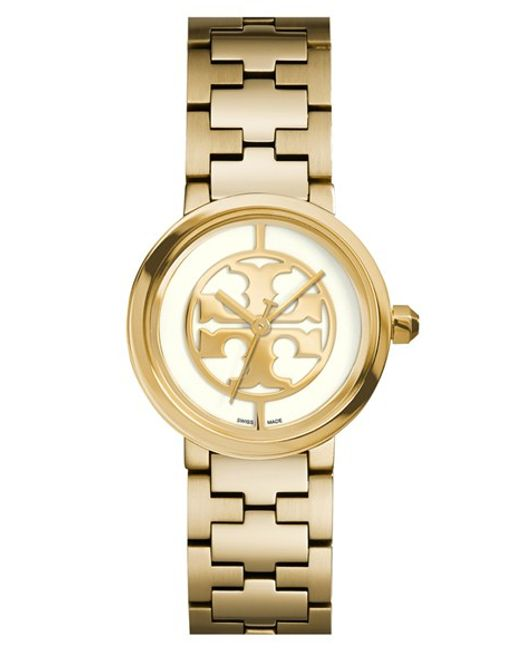 Tory Burch | Metallic 'reva' Logo Dial Bracelet Watch | Lyst