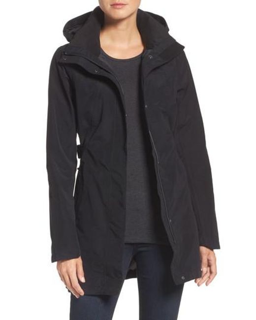 The North Face - Black Laney Trench Raincoat - Lyst