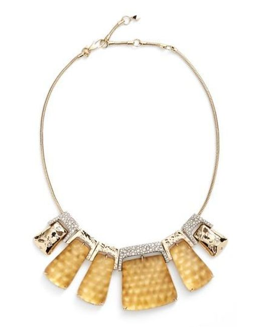 Alexis Bittar | Metallic Lucite Crystal Accent Crystal Collar Necklace | Lyst