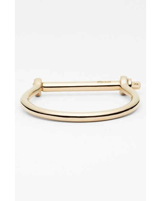 Miansai | Metallic Gold Plated Screw Cuff Bracelet for Men | Lyst