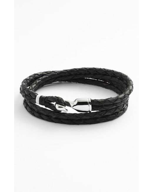 Miansai   Black 'trice' Braided Leather Wrap Bracelet for Men   Lyst