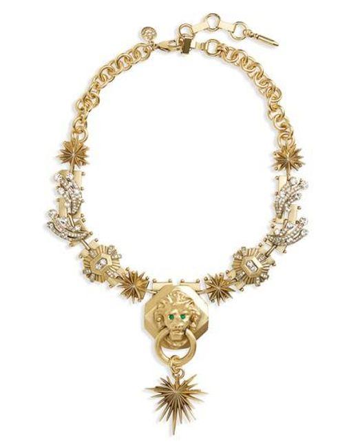 Loren Hope | Metallic Leo Statement Necklace | Lyst