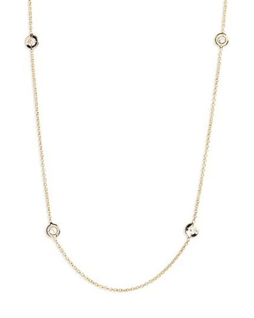 Roberto Coin | Yellow Diamond Seven Station Necklace | Lyst