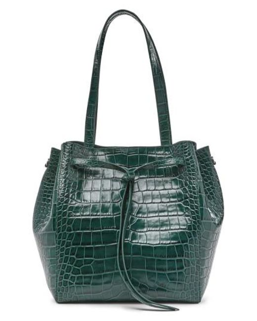 POP AND SUKI | Green Pop & Suki Croc Embossed Carryall Tote | Lyst