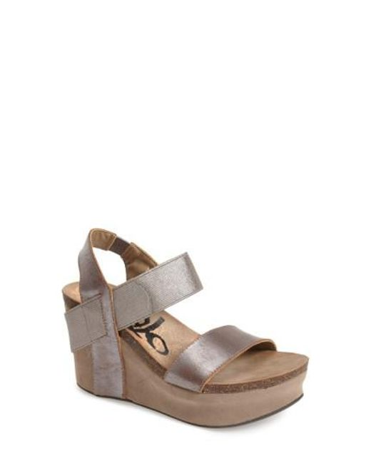 Otbt - Metallic 'bushnell' Wedge Sandal - Lyst