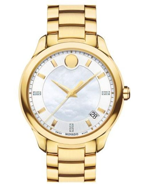 Movado - Metallic 'bellina' Bracelet Watch - Lyst