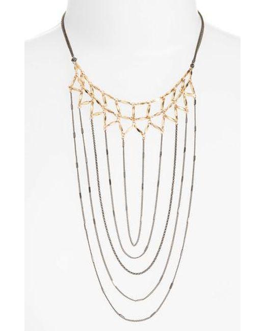 Nakamol | Gray Draped Chain Necklace | Lyst